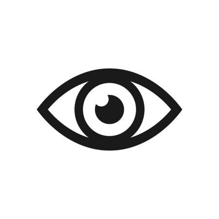 human eye: Eye icon. Vector illustration.