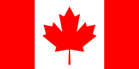 Canada flag, official colors and proportion correctly. High detailed vector flag of Canada.