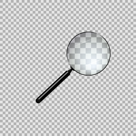 magnifying glass isolated on background. Vector illustration. Illustration