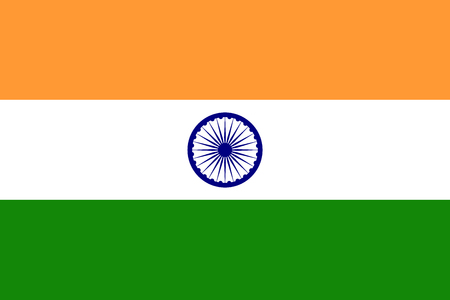 India flag. Vector illustration. Eps 10. symbol Illustration