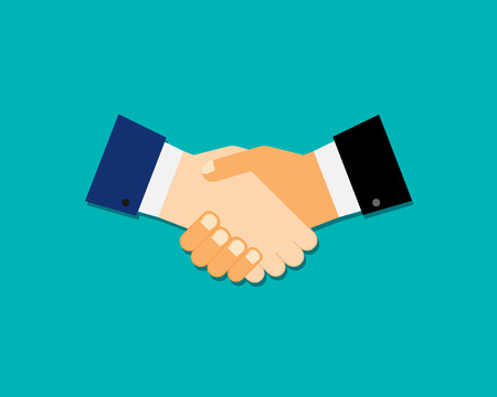 business meeting: handshake icon isolated on white background. Vector illustration. Eps 10. Illustration
