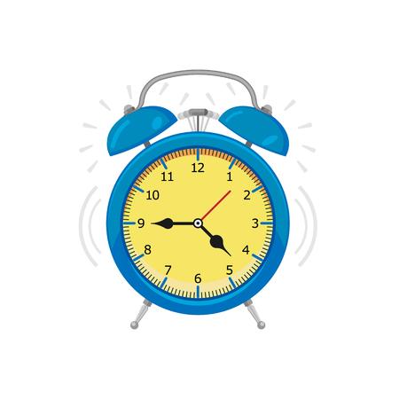 alarm clock isolated on white background. Vector illustration. Eps 10.