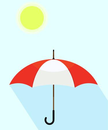 Regenschirm isoliert auf den Hintergrund. Vektor-Illustration. Eps 10 Standard-Bild - 76706038