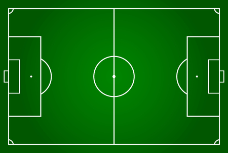 Soccer field or football field Vector illustration. Eps 10. Illustration