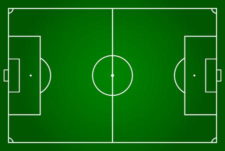 Soccer field or football field Vector illustration. Eps 10. Illustration