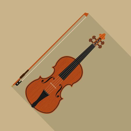 Violin isolated on white background. Vector illustration. Eps 10.