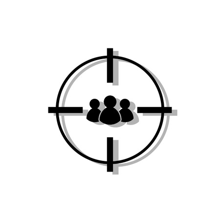 target audience icon. isolated on background. Vector illustration. Eps 10. Illustration