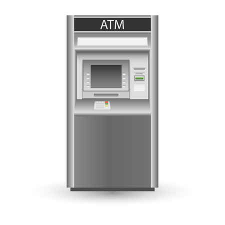 ATM isolated on white background Vector illustration. Eps 10