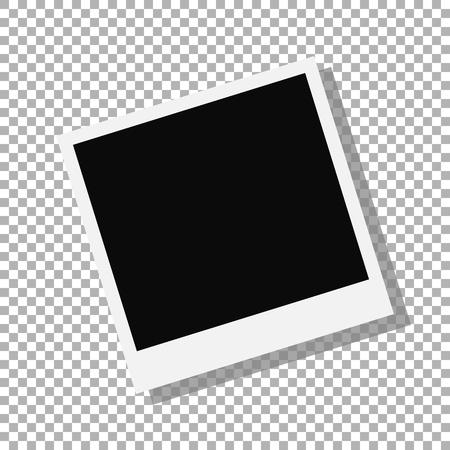 photo frame isolated on background. Vector illustration. Eps 10.