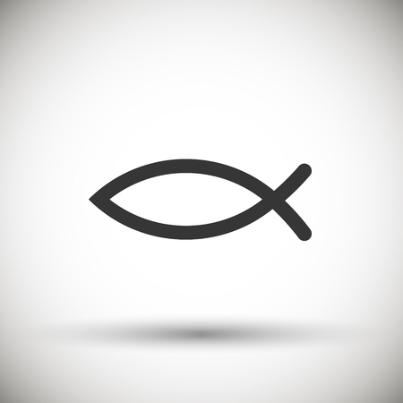 sacred trinity: Christian Fish Symbol icon isolated on background. Vector illustration. Eps 10. Illustration