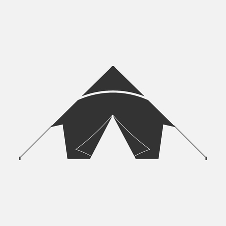 textiles: tent isolated on white background. Vector illustration. Eps 10.