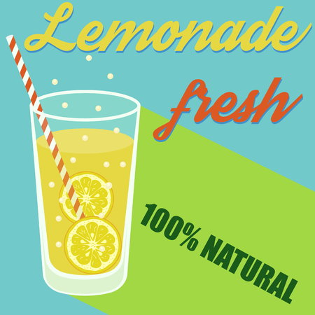 Selling lemonade Vector illustration. Eps 10 lemonade juice