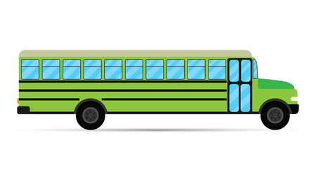 yellow schoolbus: School bus vector isolated on white background. Vector illustration. Eps 10 Illustration