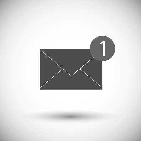 Message électronique isolé sur fond blanc. Illustration vectorielle. Eps 10.