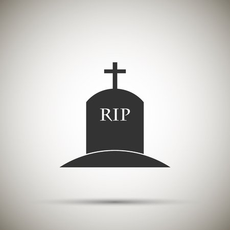 abbey: Tomb icon isolated on background. Vector illustration. Eps 10.