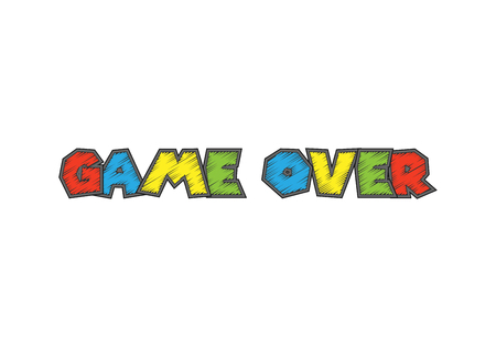 end user: Game over isolated on background. Vector illustration. Eps 10.