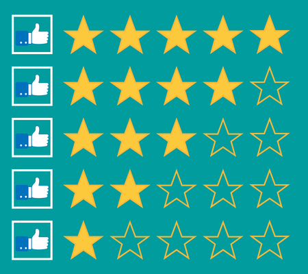 stars rating isolated on background. Vector illustration. Eps 10.