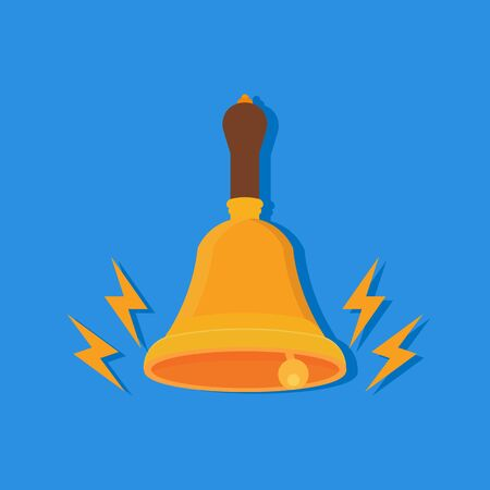 shiny metal: Bell isolated on background. Vector illustration. Eps 10.