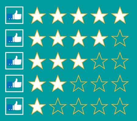 top class: stars rating isolated on background. Vector illustration. Eps 10.