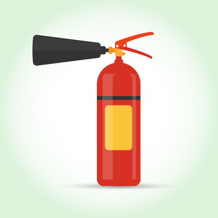 firealarm: Extinguisher flat icon isolated on background. Vector illustration. Eps 10. Illustration