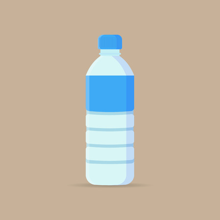 Water Bottle flat icon. Vector illustration. Imagens - 76964977