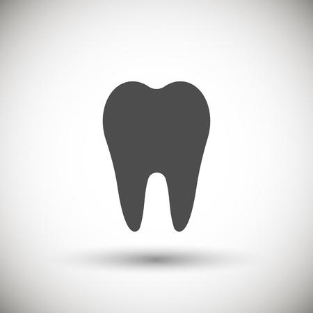 medical symbol: Tooth icon. Vector illustration.
