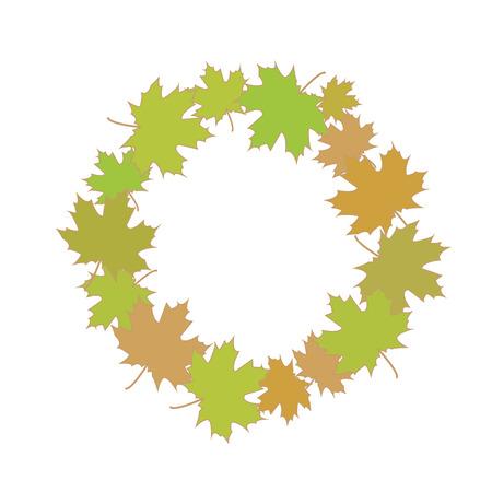 Autumn symbol isolated on background. Vector illustration. Eps 10. Illustration