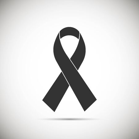 AIDS awareness ribbon icon isolated on background. Vector illustration. Eps 10.