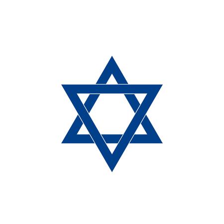 judaic: Israel star icon Vector illustration. Illustration