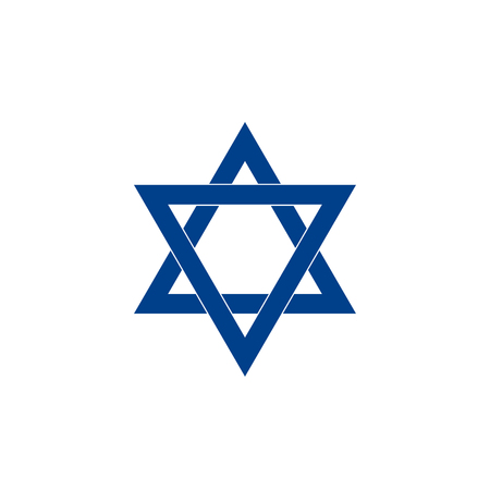 Israel star icon Vector illustration. Illustration