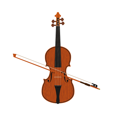 Violin isolated on background. Vector illustration.