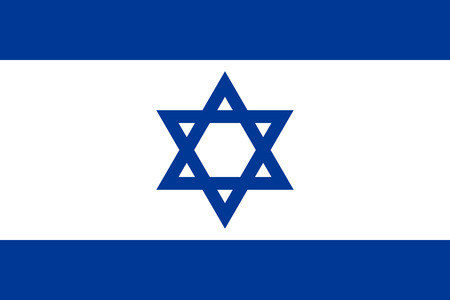 Israel flag flat Vector illustration.