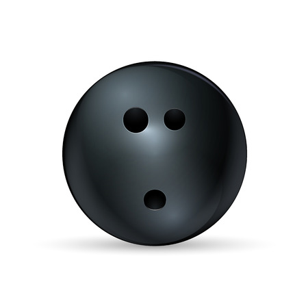 spare: Bowling ball isolated on white. Vector illustration. Illustration
