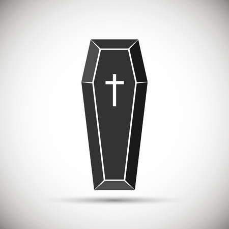 Coffin icon. isolated. Vector illustration.
