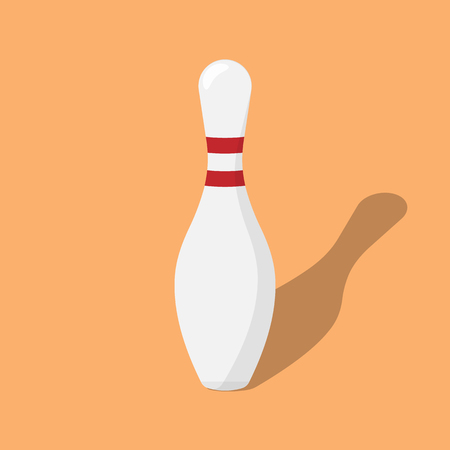 spare: Bowling pin isolated. Vector illustration. Illustration