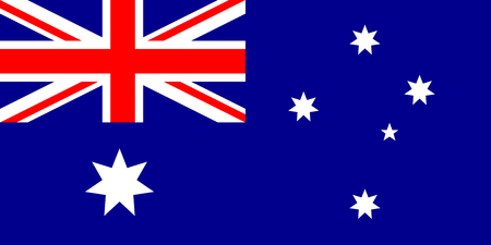 australia flag Vector illustration. Eps 10. australian