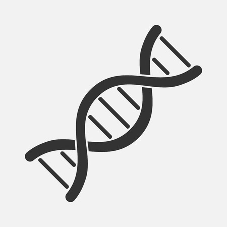 DNA Icon Isolated on background. Vector illustration, eps 10.