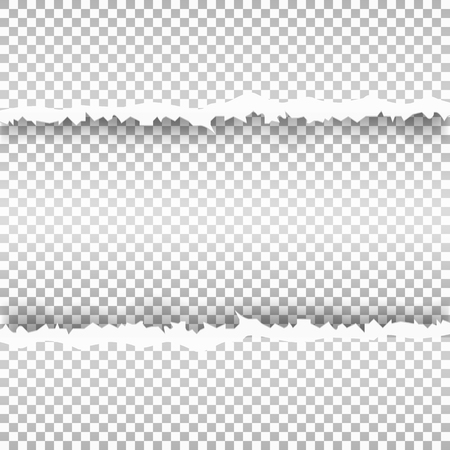 snatched: Ripped paper with transparent background. Snatched window in sheet of paper. Vector illustration.