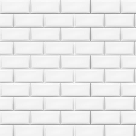 Horizontal white tiles background. Vector illustration. Eps 10.