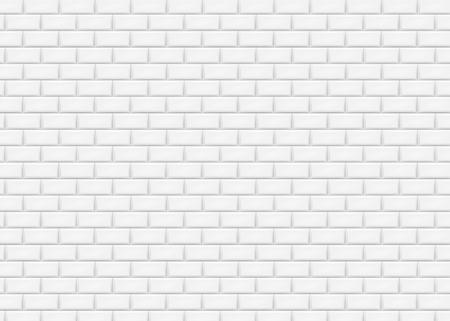 White brick wall in subway tile pattern. Vector illustration. Eps 10. Illustration