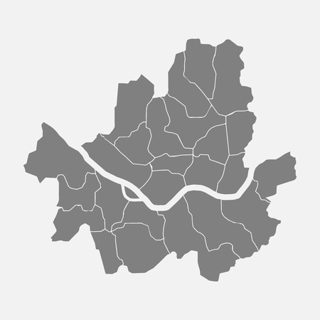 Map of Seoul isolated on background. 일러스트