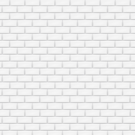White brick wall in subway tile pattern. Vector illustration. Eps 10.  イラスト・ベクター素材