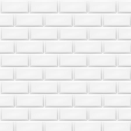 Horizontal white tiles background.