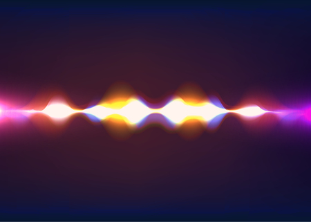 exciting: Speaking sound wave. Abstract pulse. Vector illustration. Eps 10
