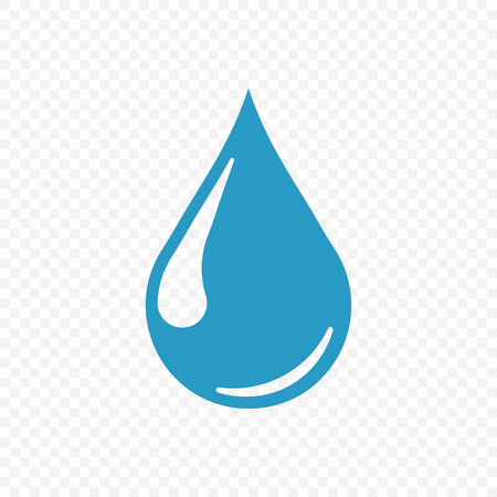 Drop icon isolated on transparent background. Vector illustration. Stock Illustratie