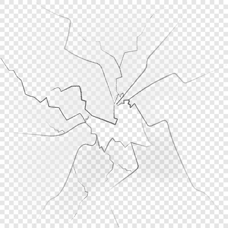 Vetri rotti isolati su sfondo trasparente. Illustrazione vettoriale Vettoriali