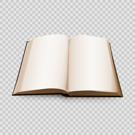 Open Book 3d isolated on transparent background. Vector illustration. Ilustração