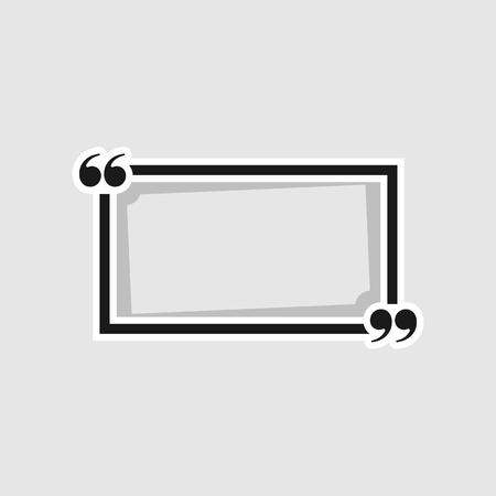 citaatkaders op witte achtergrond worden geïsoleerd die. Vector illustratie. Vector Illustratie