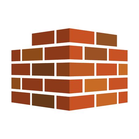 Icona di mattoni. Logo di mattoni. isolato su sfondo bianco. Illustrazione vettoriale Eps 10. Archivio Fotografico - 87339854