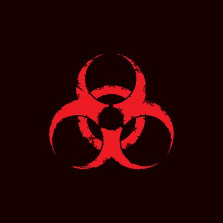Grunge biohazard symbol isolated on white background. Vector illustration. Eps 10. Illustration